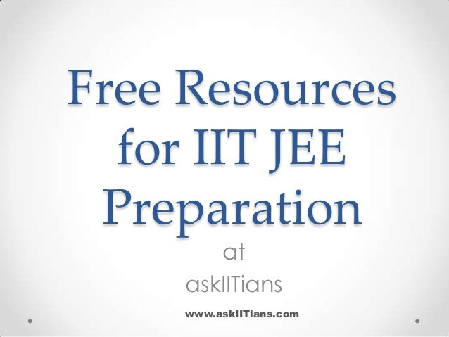 Free Resources for IIT JEE Preparation at askIITians  www.askIITians.com