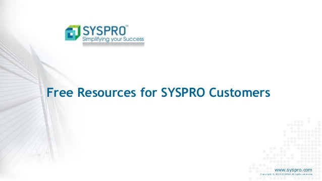Syspro torrent