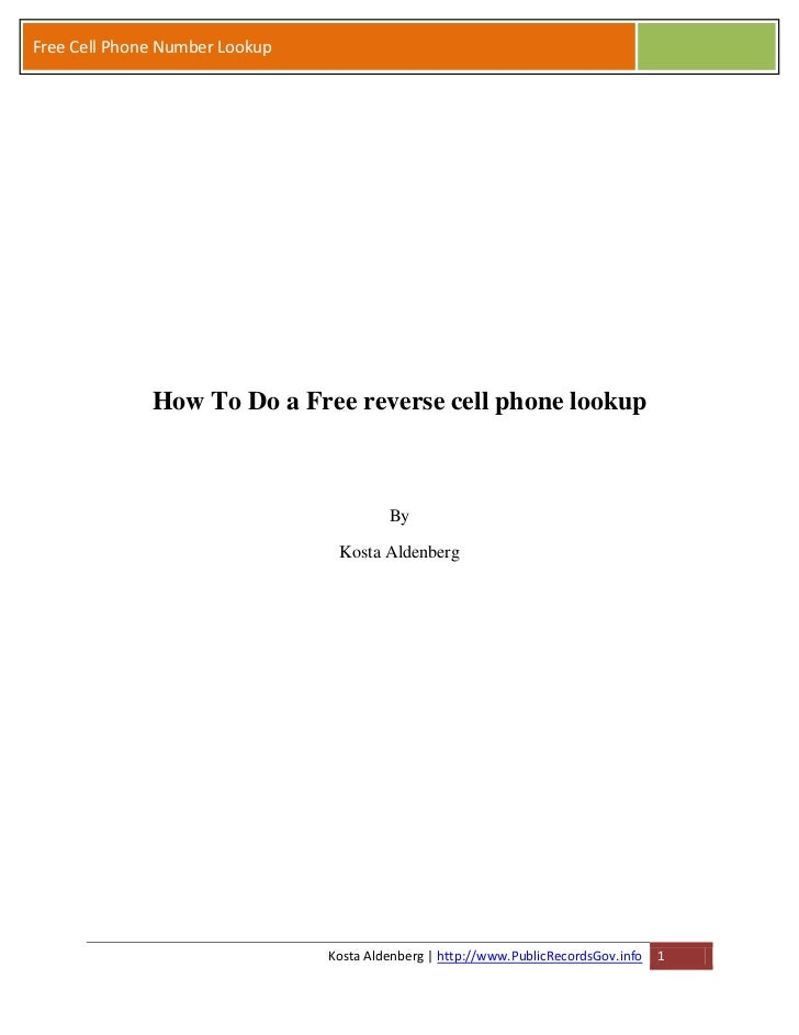 How To Do a ... Reverse Phone Lookup Free