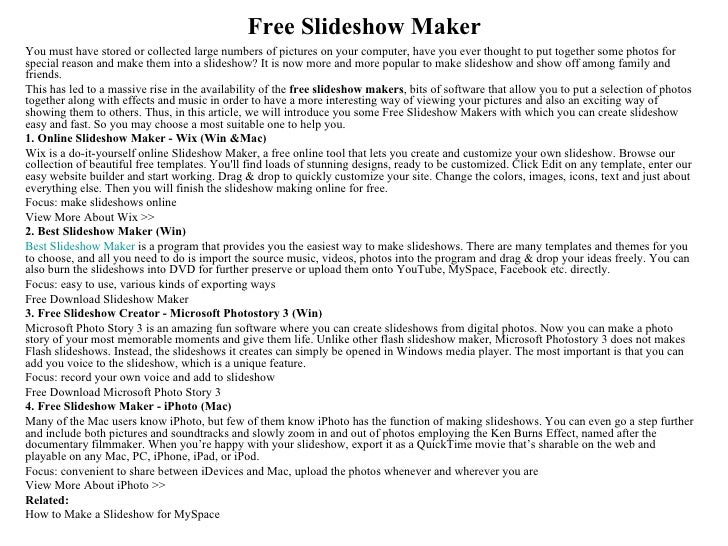 Free Slideshow MakerYou must have stored or collected large numbers of pictures on your computer, have you ever thought to...