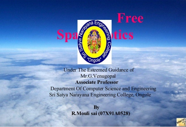 Free   Space Optics       Under The Esteemed Guidance of              Mr.G.Venugopal            Associate ProfessorDepartm...