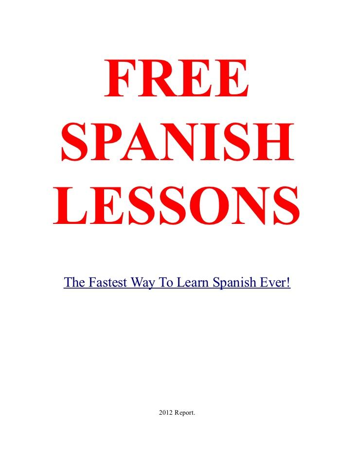 Free spanish lessons
