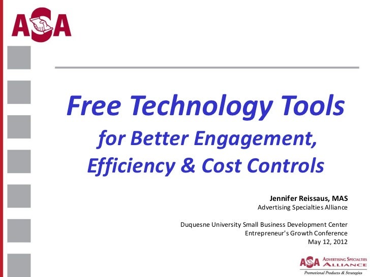 Free Technology Tools - SBDC EGC 2011