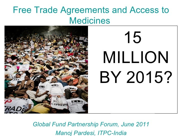 Free trade agreements and access to medicines