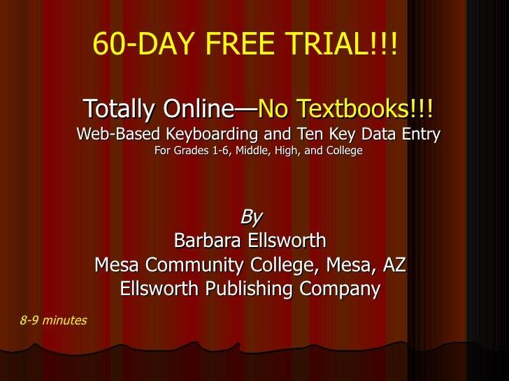 Paperless, Totally Online, Web-based Keyboarding & Ten Key Data Entry
