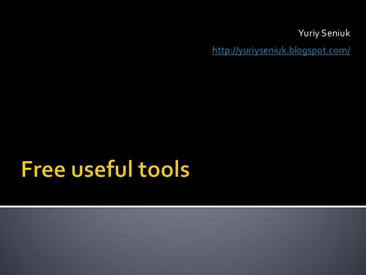 Free useful tools
