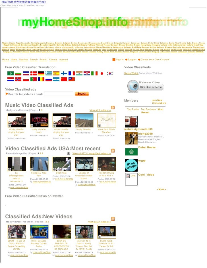 http://com.myhomeshop.magnify.net/ Classified ads:Video Classified ads usa.      Albania Algeria Argentina Aruba Australia...