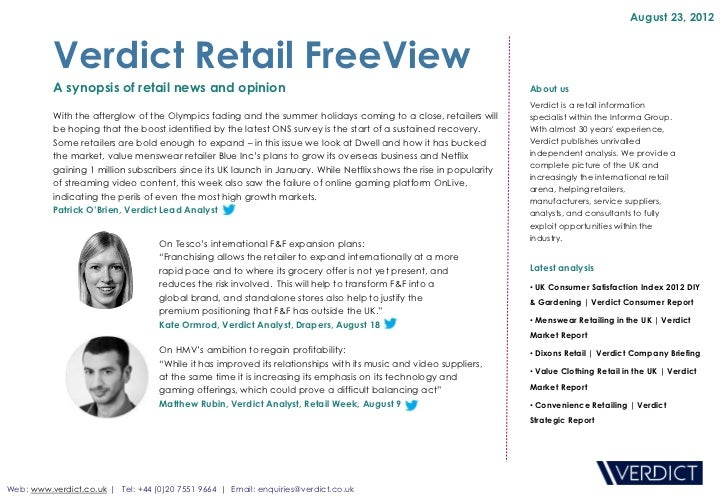 Retail FreeView - Dwell: not resting on its laurels