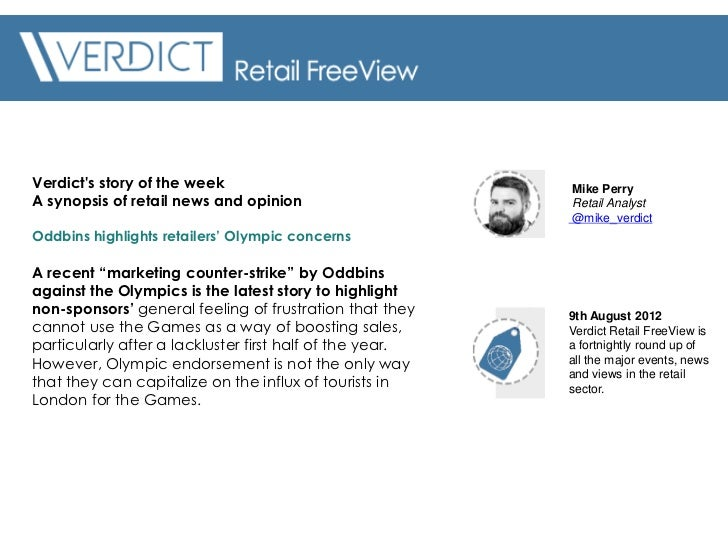 Verdicts story of the week                               Mike PerryA synopsis of retail news and opinion                  ...