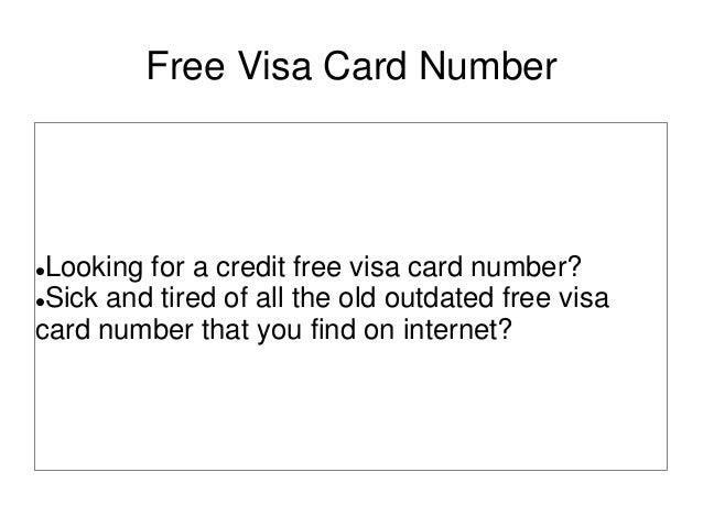 free visa card number. Black Bedroom Furniture Sets. Home Design Ideas