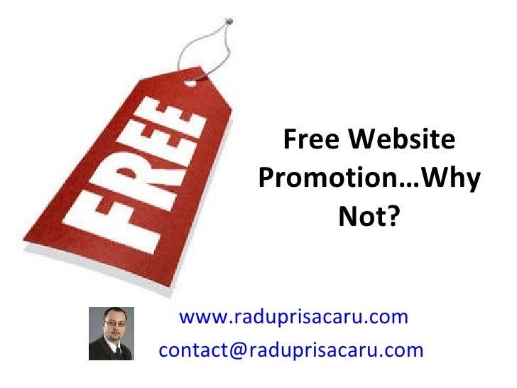 Free website promotion   www.raduprisacaru.com