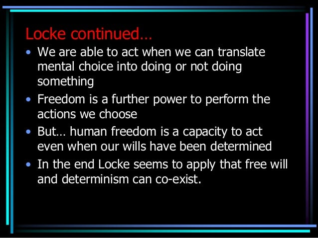 essay on free will and determinism