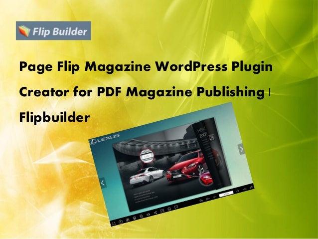 wordpress pdf page turning plugin