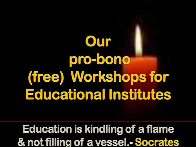Free workshops for students from the english academy