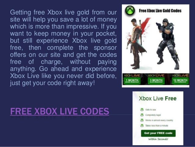 free xbox live code generator 2016