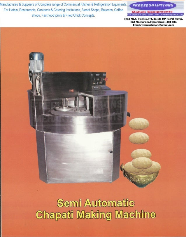 Chapati Machine by Freeze Solutions
