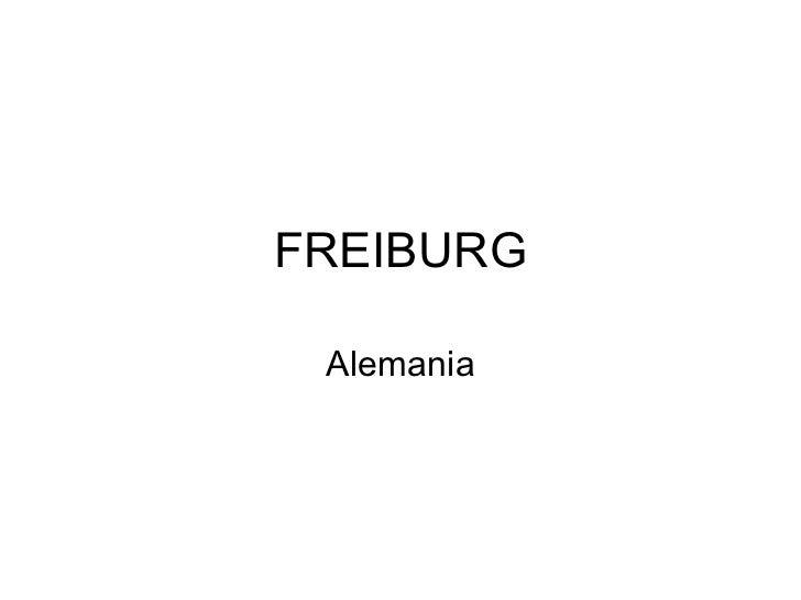 FREIBURG Alemania