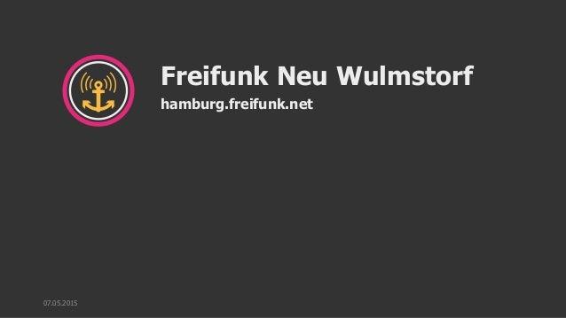 Freifunk Neu Wulmstorf hamburg.freifunk.net 07.05.2015