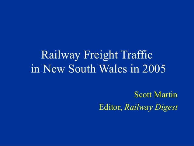 Rail freight in NSW 2005