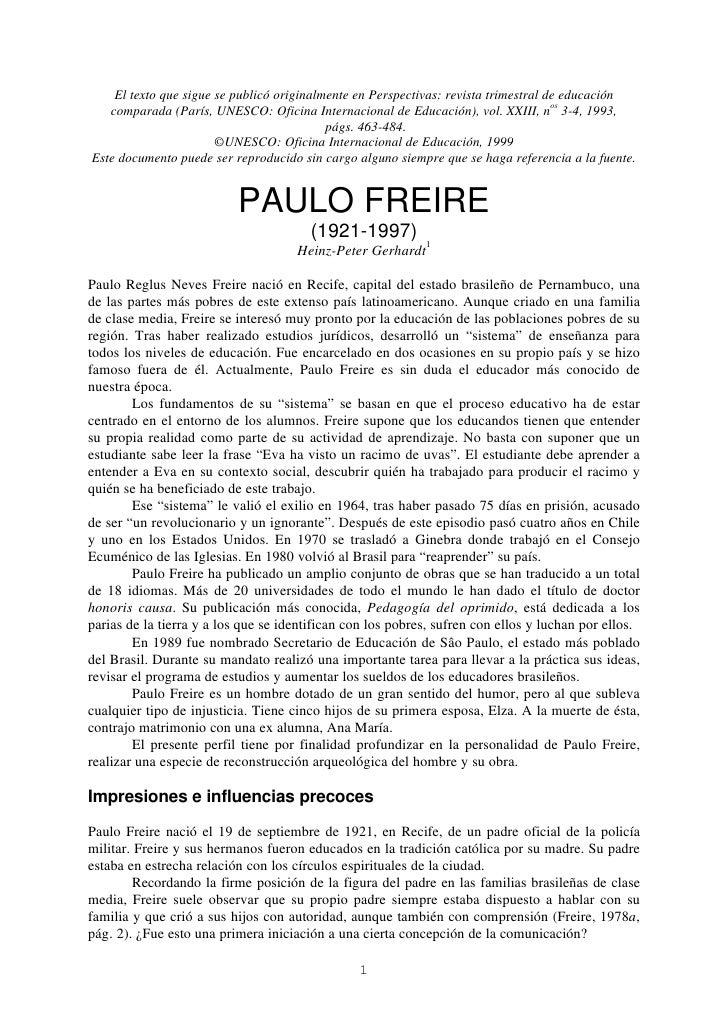 El texto que sigue se publicó originalmente en Perspectivas: revista trimestral de educación    comparada (París, UNESCO: ...
