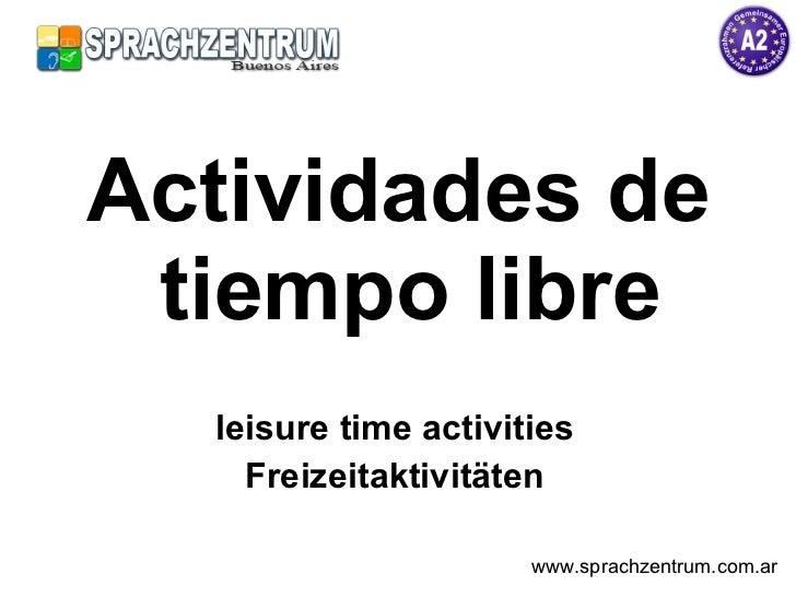 Actividades de tiempo libre