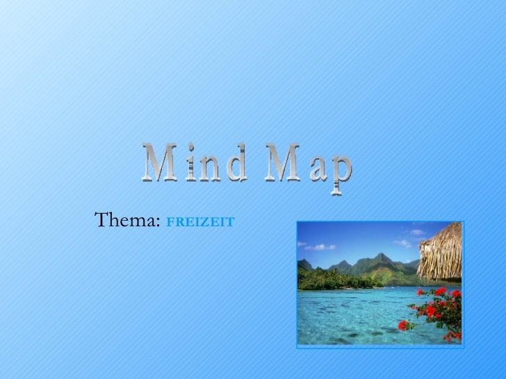 Mind Map Thema:  FREIZEIT