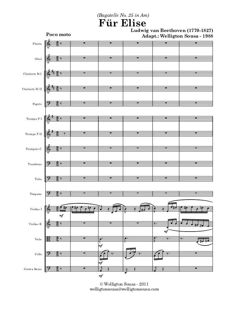 (Bagatelle No. 25 in Am)                                               Für Elise                                          ...