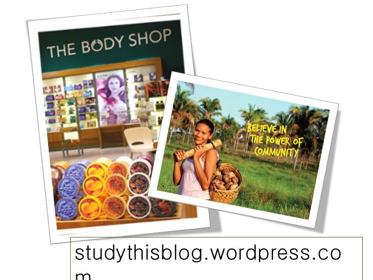 Body Shop presentation