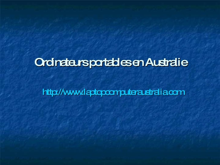 Ordinateurs portables en Australie