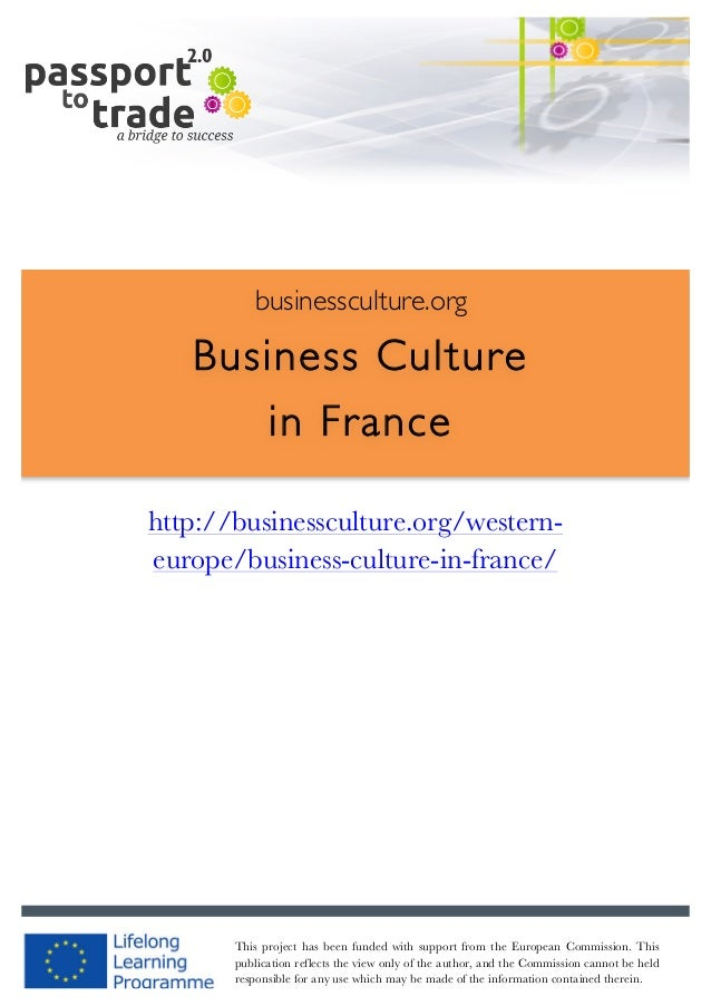 French business culture guide - Learn about France