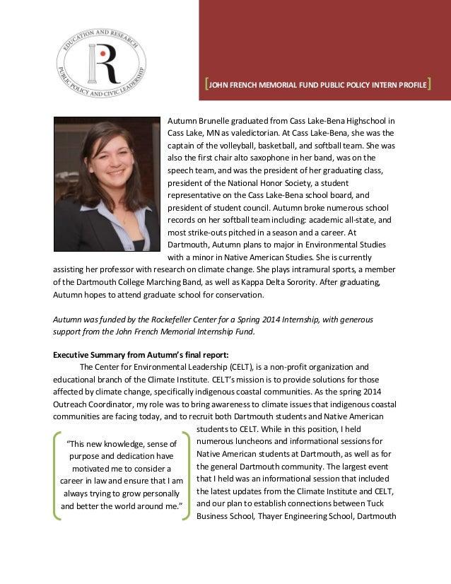 Named Internship Profile Summary - Autumn Brunelle (French)