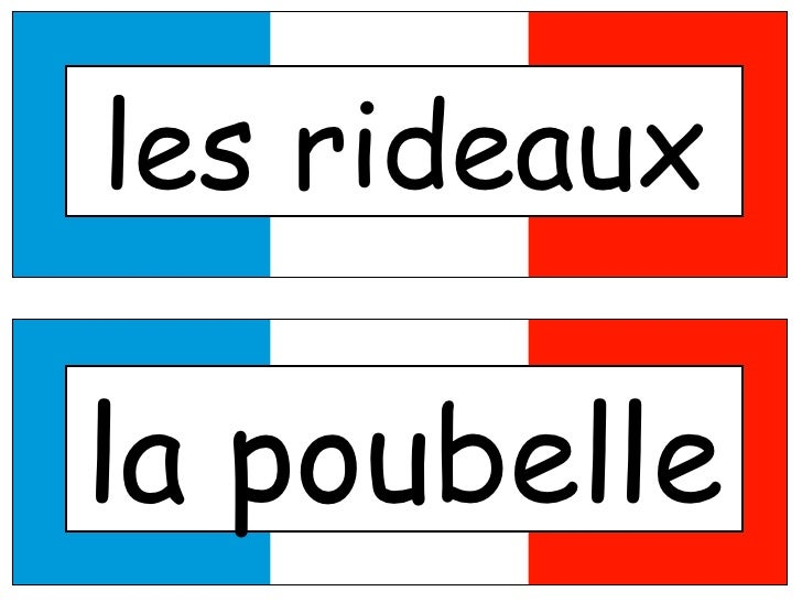 French Classroom Objects Labels