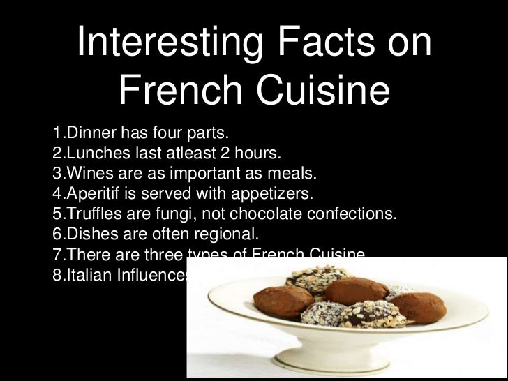the importance of french cuisine Culture of france - history, people, clothing, traditions, women, beliefs, food,  customs, family  an important element of national identity is the identity card.