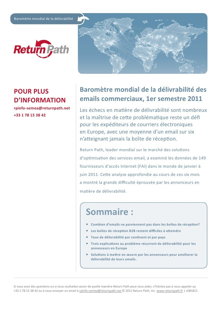 French deliverability benchmark report  2011