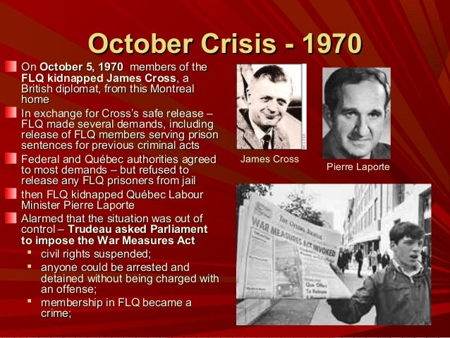 flq crisis Flq crisis - in the early 1960s the extremists separatist of quebec formed the front de libération du québec or also commonly known as the flq, or the front de.