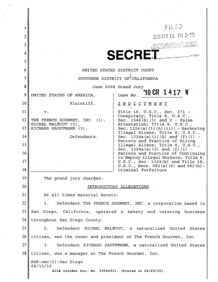 1   2  3   4   5   6                            UNITED STATES DISTRICT COURT   7                          SOUTHERN DISTRIC...
