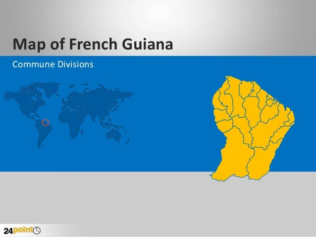Map of French Guiana Commune Divisions