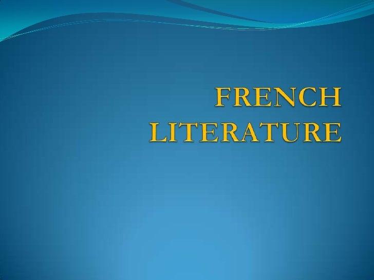 French literature  ckz1