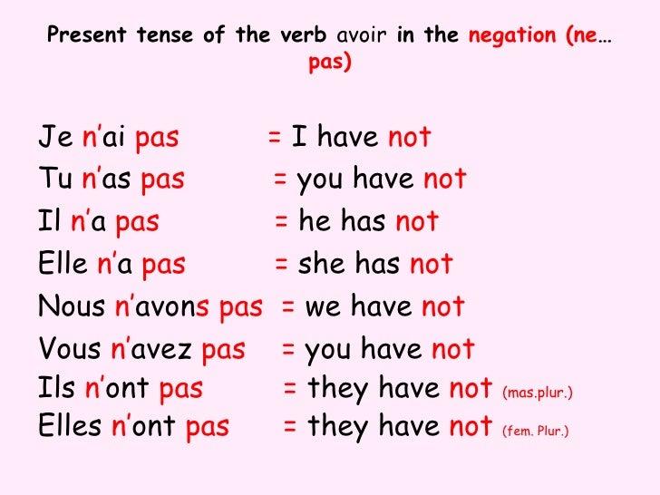 avoir essayer anglais