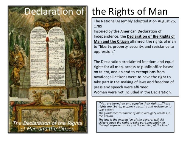 a comparison of the declaration of independence and the declaration of the rights of man Find the foundation of universal human rights in american history through the writing of the constitution of the united states, the declaration of independence and.