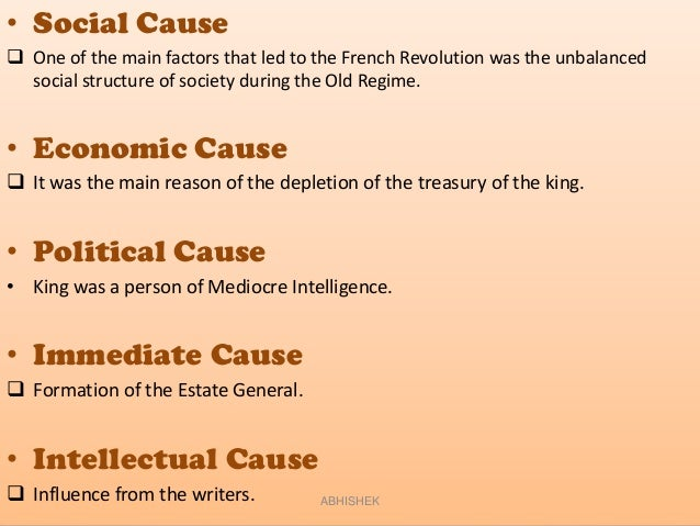 most important cause of the french revolution