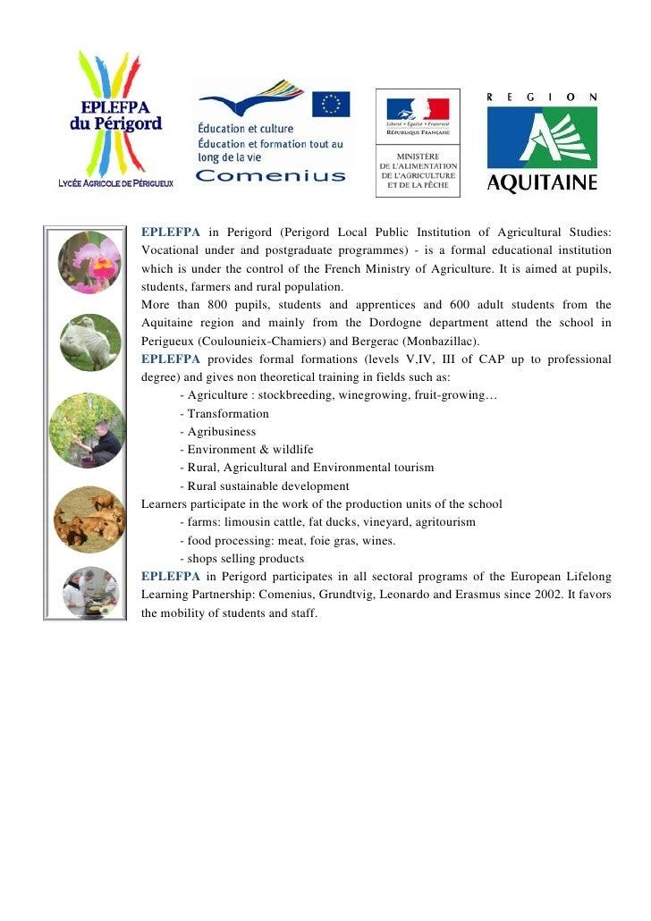 EPLEFPA in Perigord (        (Perigord Local Public Institution of Agricultural Studies                                   ...