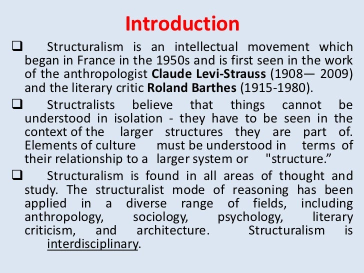summary of post structuralism Summary: this resource will note: structuralism, semiotics, and post-structuralism are some of the most complex literary theories to understand please be patient.
