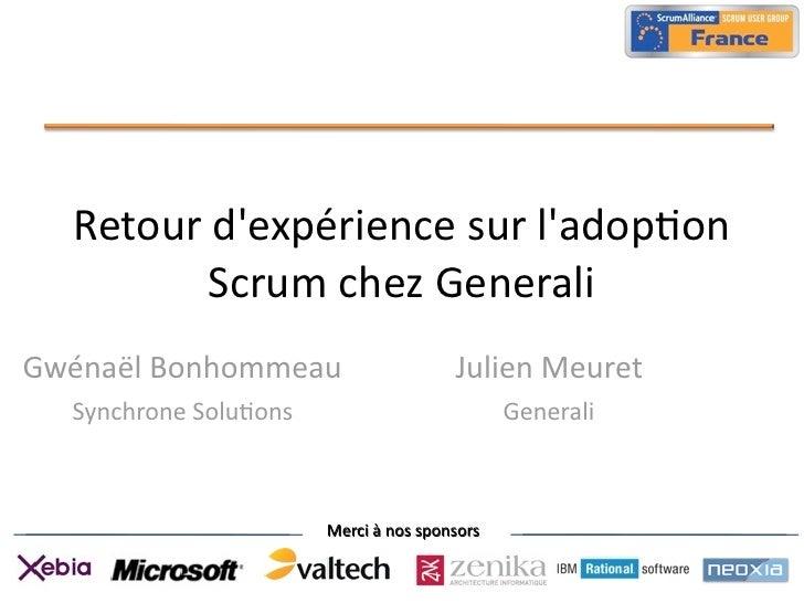 French Scrum User Group REX Generali 05102011