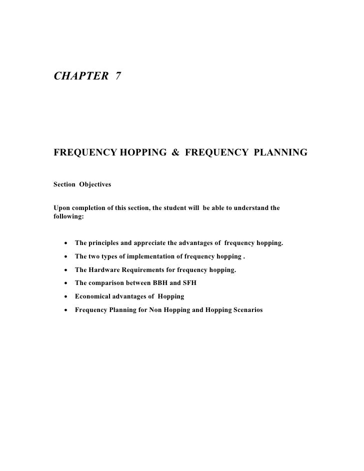 Freq hopping & freq planning