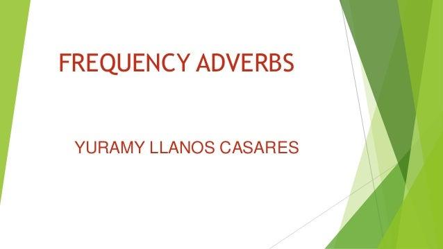 Frequency adverbs diapositivas