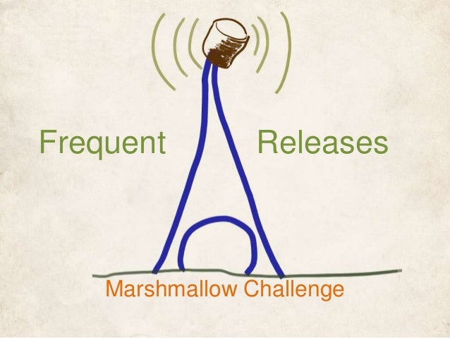 Using the Marshmallow Challenge to Help People Understand the Importance of Frequent Releases