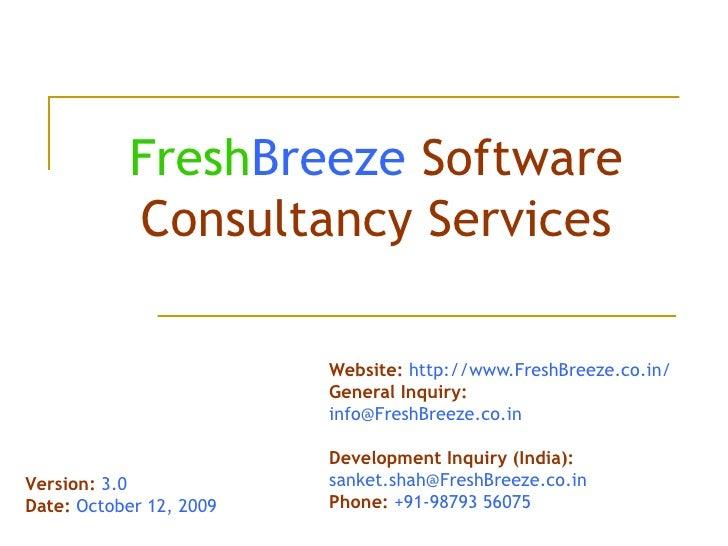 Fresh Breeze Corporate Presentation