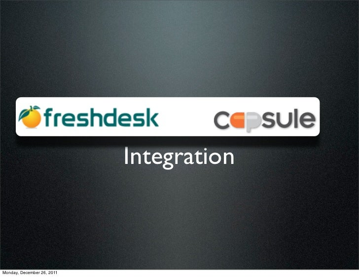 Freshdesk integration with Capsule Crm