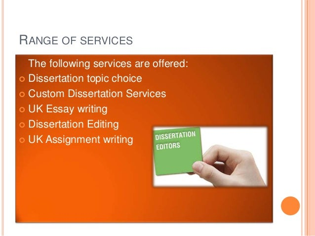 Dissertation Consulting Service Writing